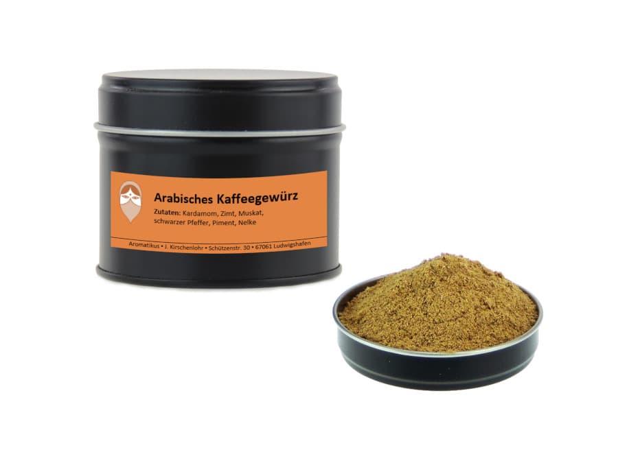 Arabisches Kaffeegewürz von Aromatikus in einer Aromaschutzdose