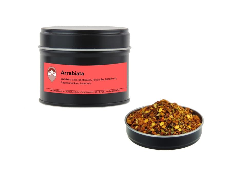 Arrabiata Chilimischung von Aromatikus in einer Aromaschutzdose