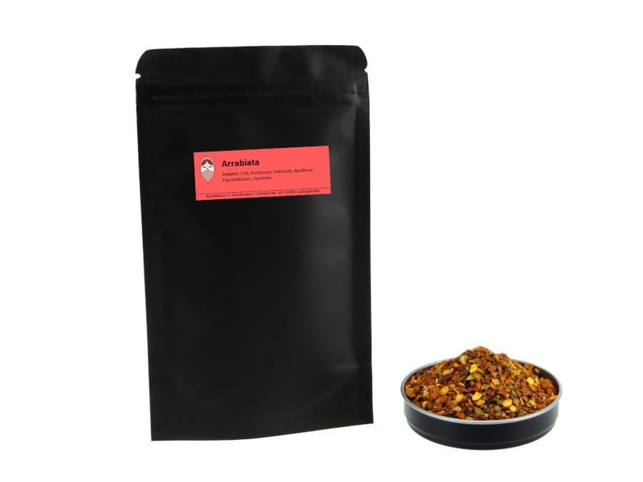 Arrabiata Chilimischung von Aromatikus im verschließbaren Nachfüllpäckchen