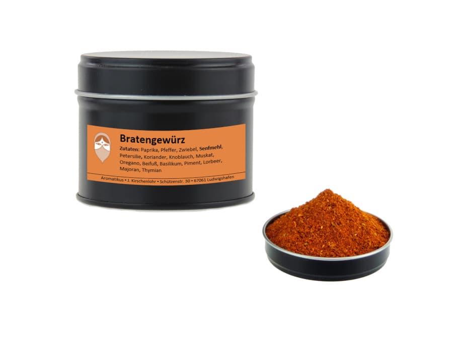 Bratengewürz Mischung von Aromatikus in einer Aromaschutzdose