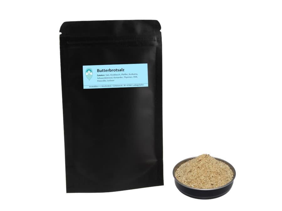 Butterbrotsalz Mischung von Aromatikus im verschließbaren Nachfüllpäckchen