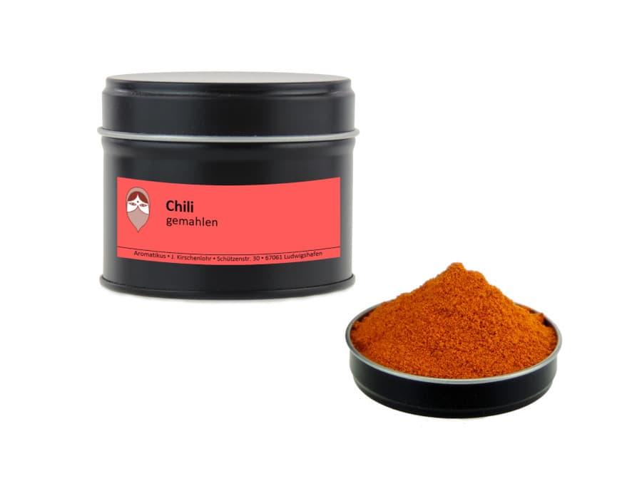 Cayennepfeffer Chili gemahlen von Aromatikus in einer Aromaschutzdose