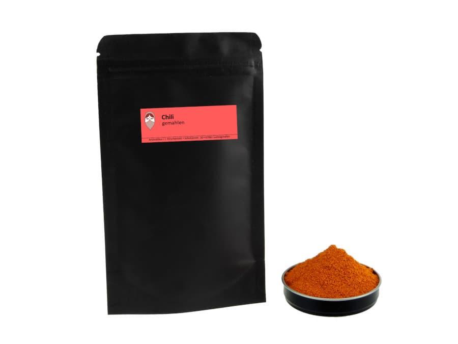 Cayennepfeffer Chili gemahlen von Aromatikus im verschließbaren Nachfüllpäckchen