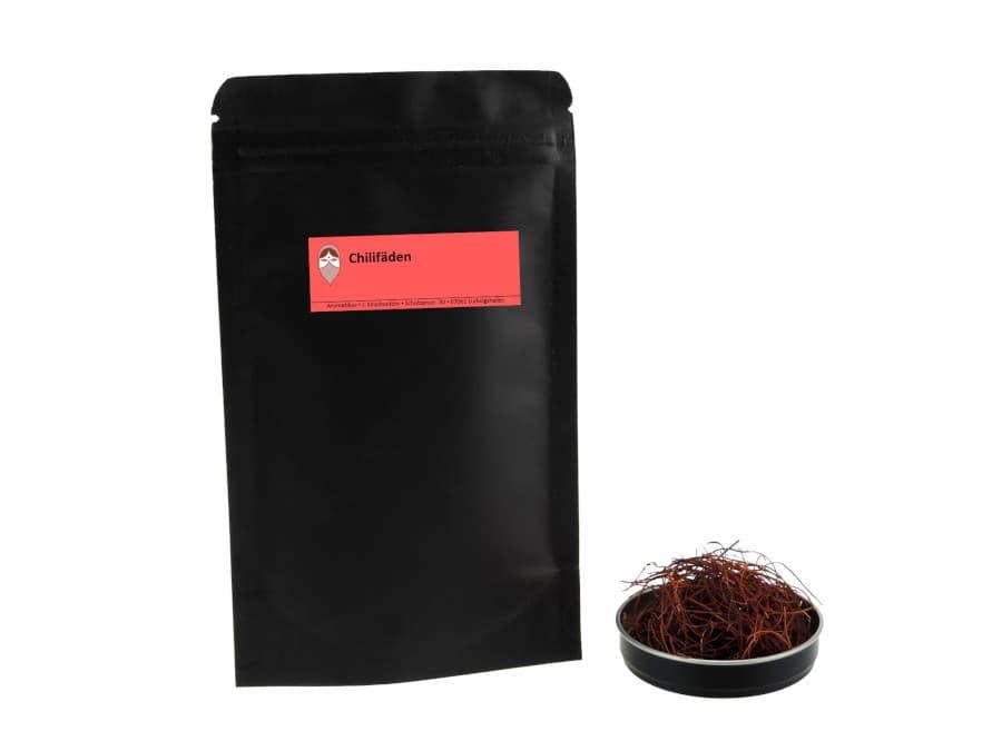 Chilifäden von Aromatikus im verschließbaren Nachfüllpäckchen