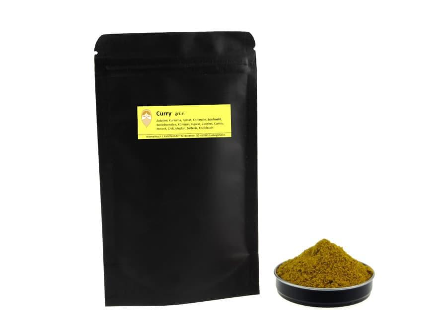 grüner Curry von Aromatikus im verschließbaren Nachfüllpäckchen