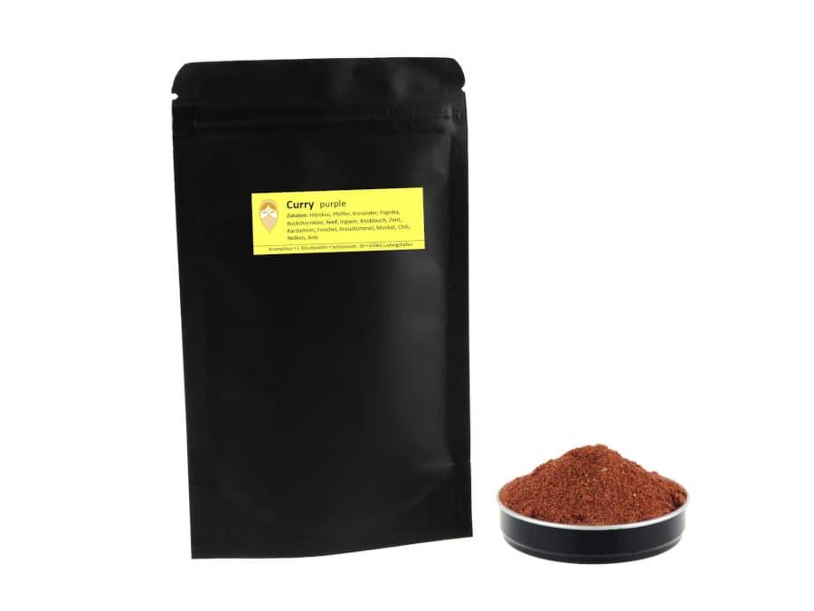 Pinkes Curry Gewürzmischung von Aromatikus im verschließbaren Nachfüller
