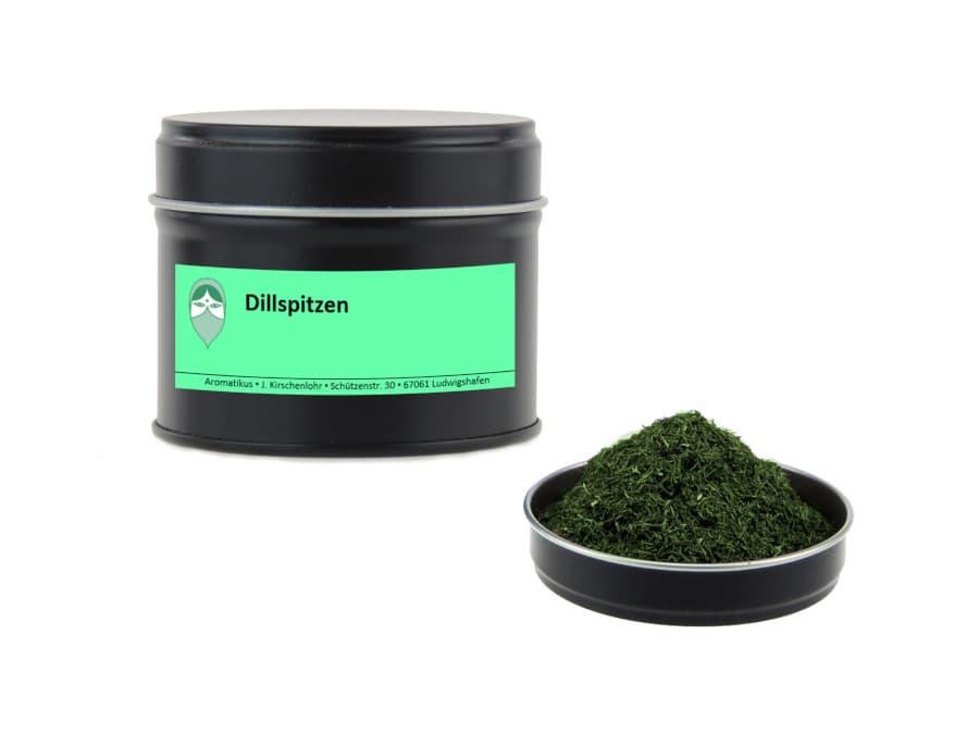Dillspitzen getrocknet von Aromatikus in einer Aromaschutzdose