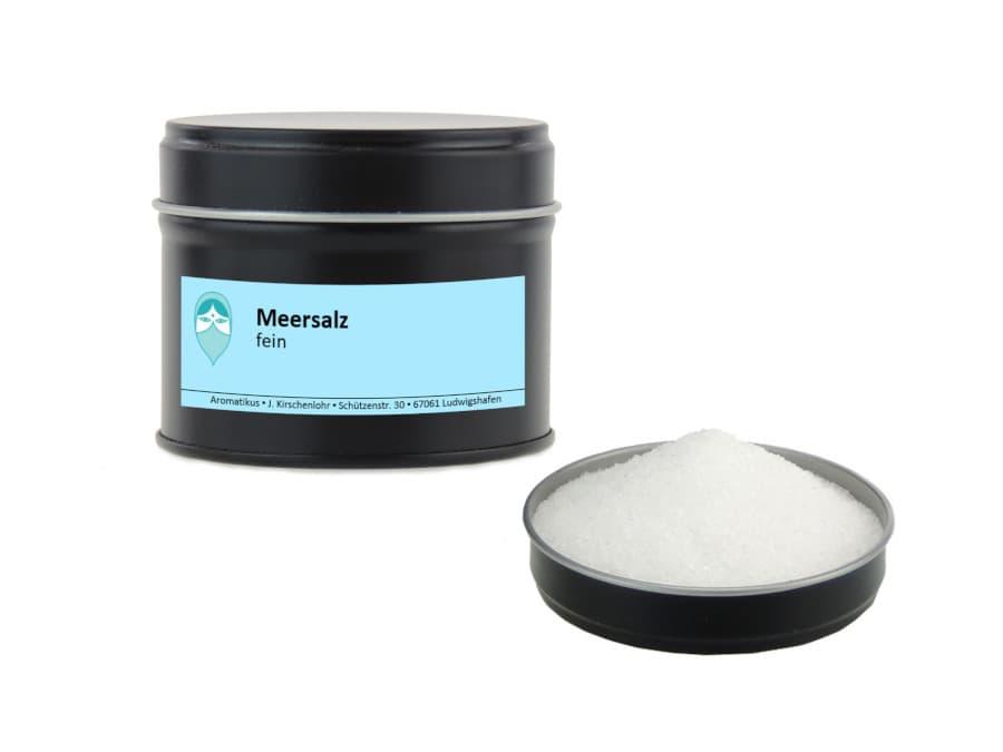 feines Meersalz von Aromatikus in einer Aromaschutzdose