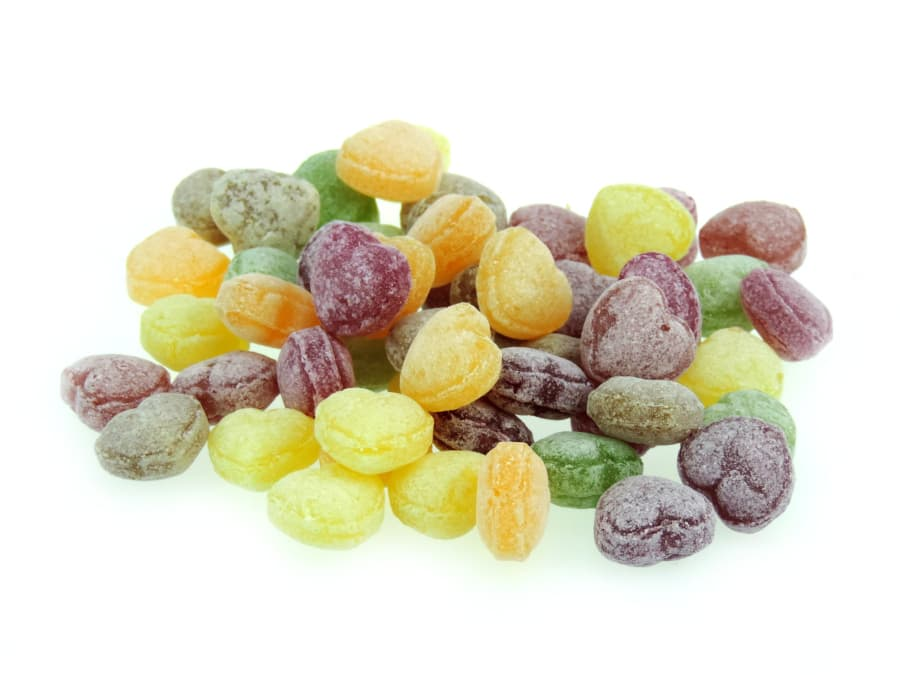 Früchtemischung Bonbons Sweet Hearts in Herzform von Aromatikus