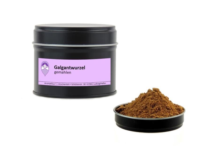 Galgant gemahlen von Aromatikus in einer Aromaschutzdose