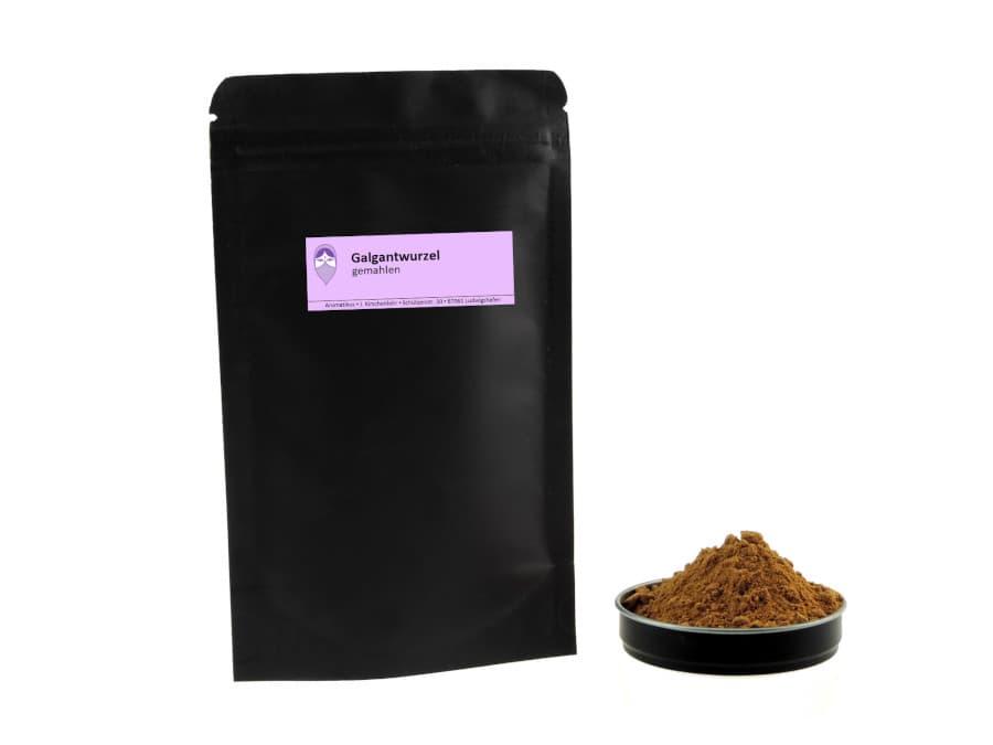Galgant gemahlen von Aromatikus im verschließbaren Nachfüllpäckchen