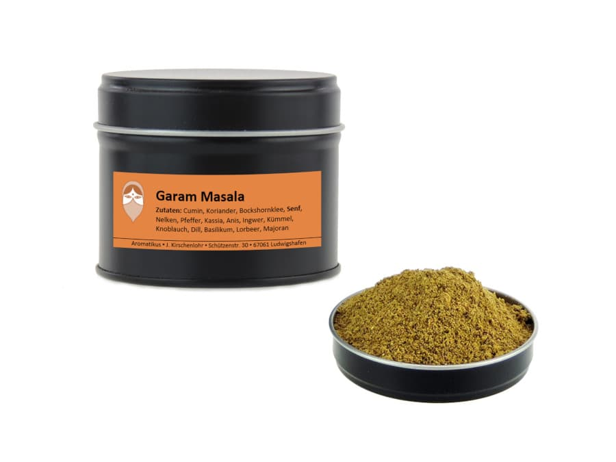 Garam Masala Gewürzmischung von Aromatikus in einer Aromaschutzdose