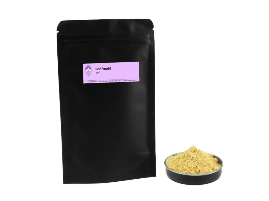 gelbes Senfmehl von Aromatikus im verschließbaren Nachfüllpäckchen