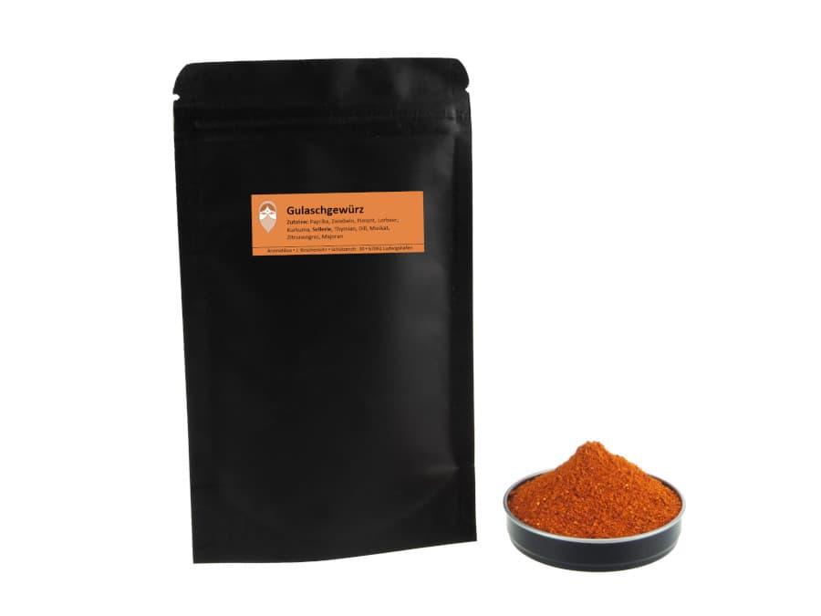 Gulaschgewürz Mischung von Aromatikus im verschließbaren Nachfüllpäckchen