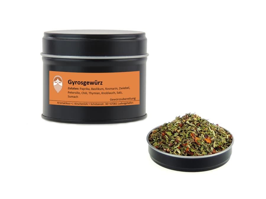Gyrosgewürz Mischung von Aromatikus in einer Aromaschutzdose