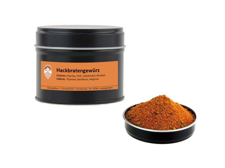 Hackbratengewürz Mischung von Aromatikus in einer Aromaschutzdose