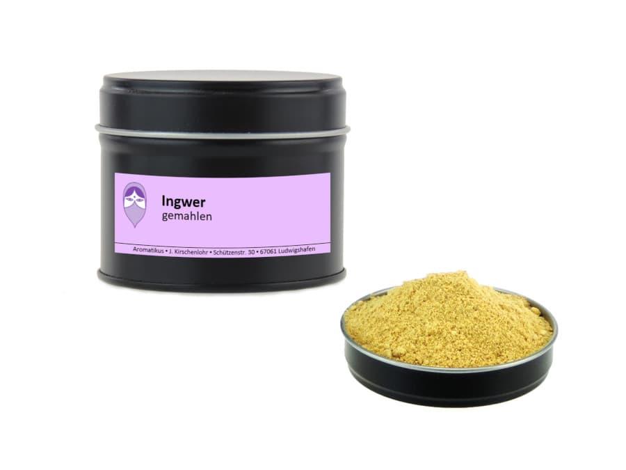 Ingwer gemahlen von Aromatikus in einer Aromaschutzdose