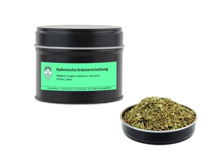 Italienische Kräutermischung von Aromatikus in einer Aromaschutzdose