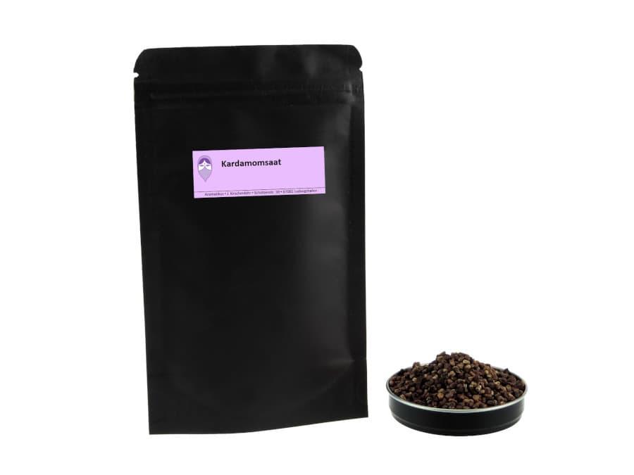 Kardamomsaat von Aromatikus im verschließbaren Nachfüllpäckchen