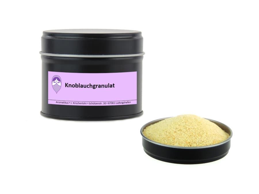 Knoblauchgranulat von Aromatikus in einer Aromaschutzdose