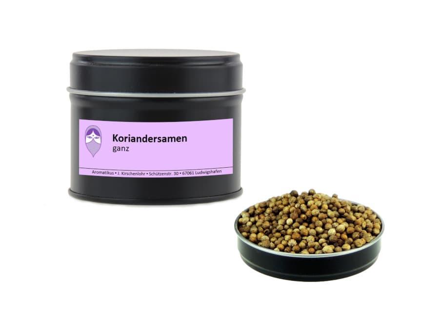 Koriandersamen ganz von Aromatikus in einer Aromaschutzdose