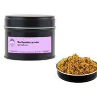 Koriandersamen gemahlen von Aromatikus in einer Aromaschutzdose