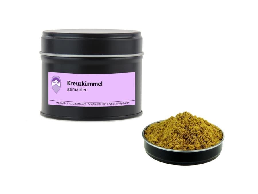Kreuzkümmel Cumin gemahlen von Aromatikus in einer Aromaschutzdose