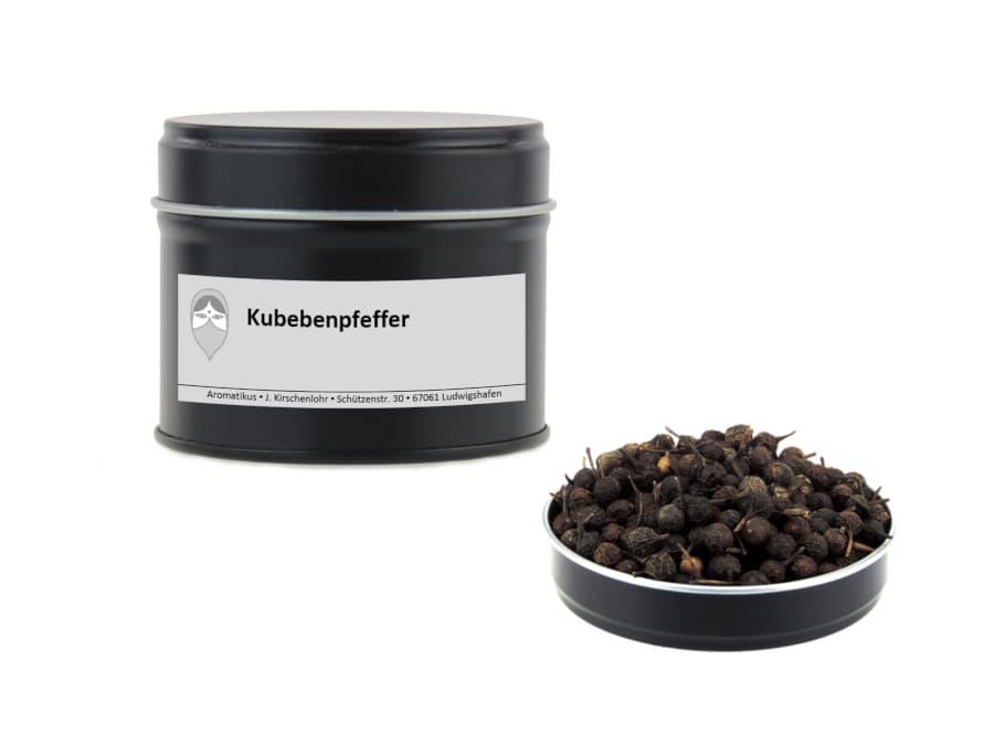 schwarzer Kubebenpfeffer von Aromatikus in einer Aromaschutzdose