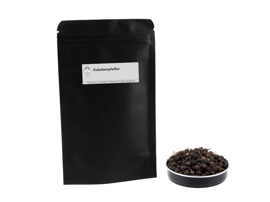 schwarzer Kubebenpfeffer von Aromatikus im verschließbaren Nachfüllpäckchen