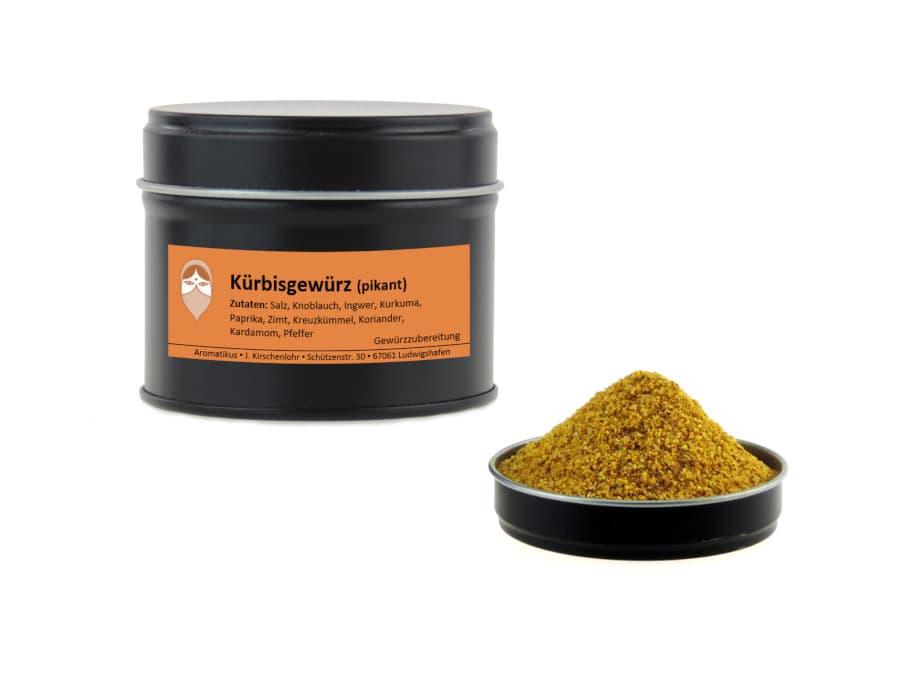 Kürbisgewürz pikant von Aromatikus in einer Aromaschutzdose