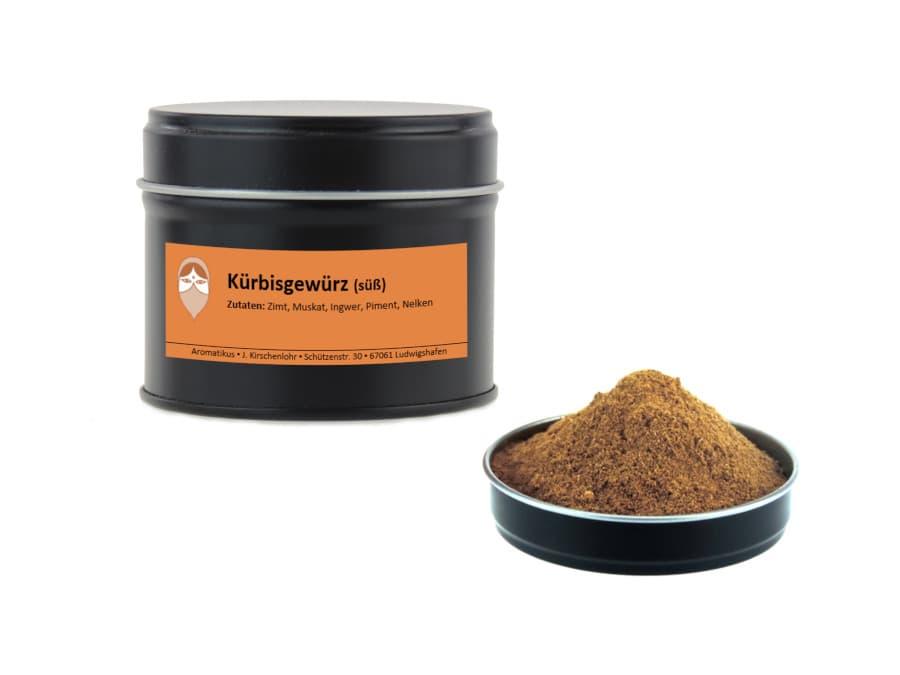 süßes Kürbisgewürz Mischung von Aromatikus in einer Aromaschutzdose