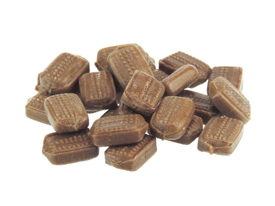 gefüllte Lebkuchen Spekulatius Bonbons in Würfelform von Aromatikus