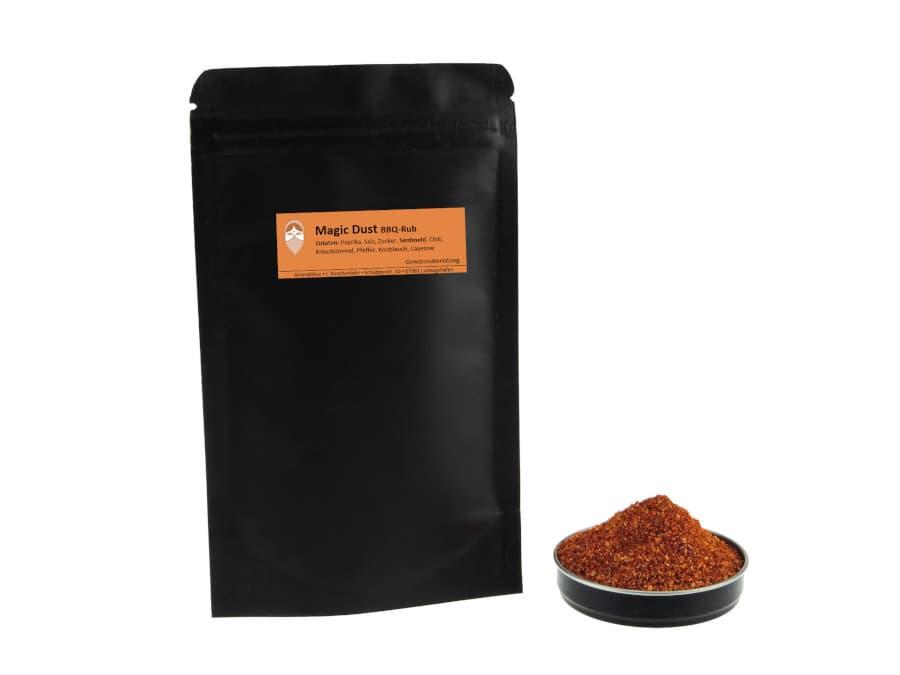 Magic Dust Barbecue Rub Trockenmarinade von Aromatikus im verschließbaren Nachfüllpäckchen