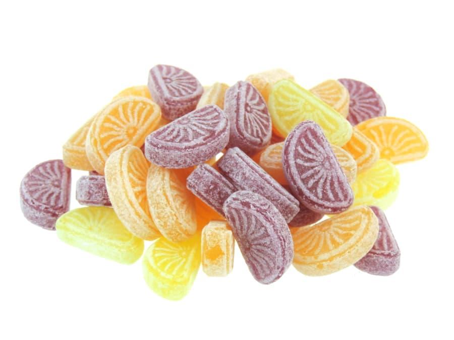 Orangen Zitronen Bonbons als Schnitten von Aromatikus