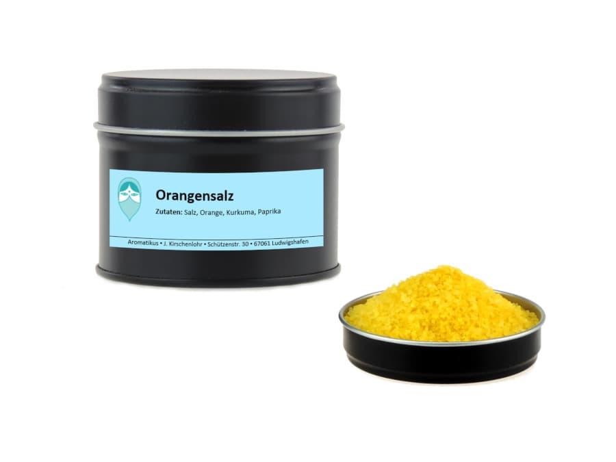 Orangensalz von Aromatikus in einer Aromaschutzdose