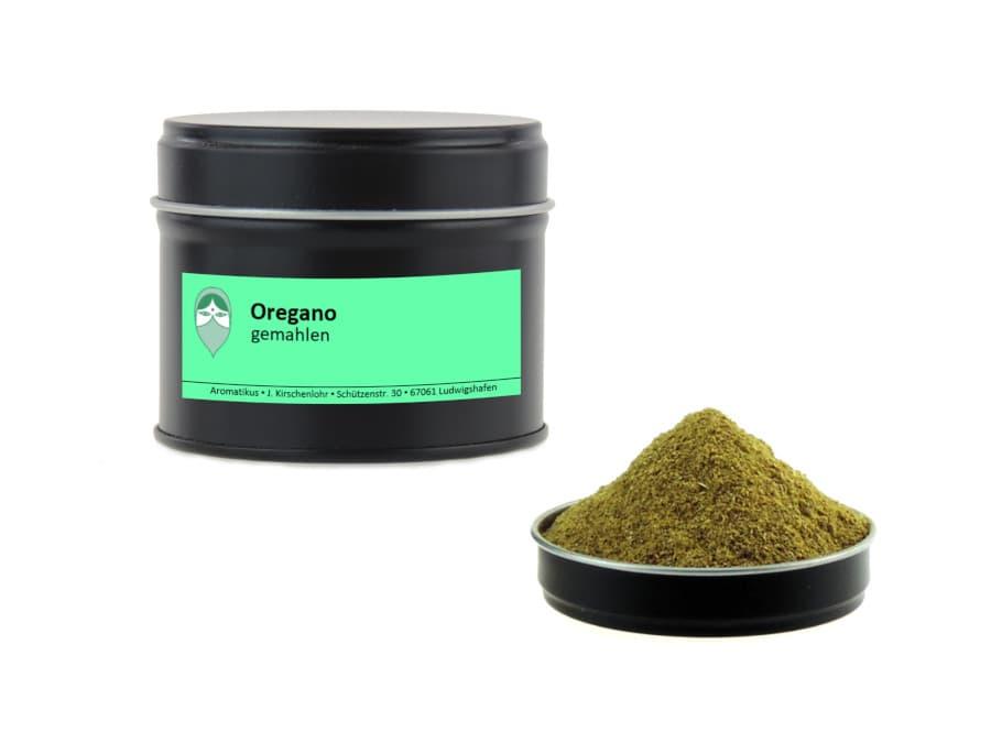 Oregano gemahlen von Aromatikus in einer Aromaschutzdose