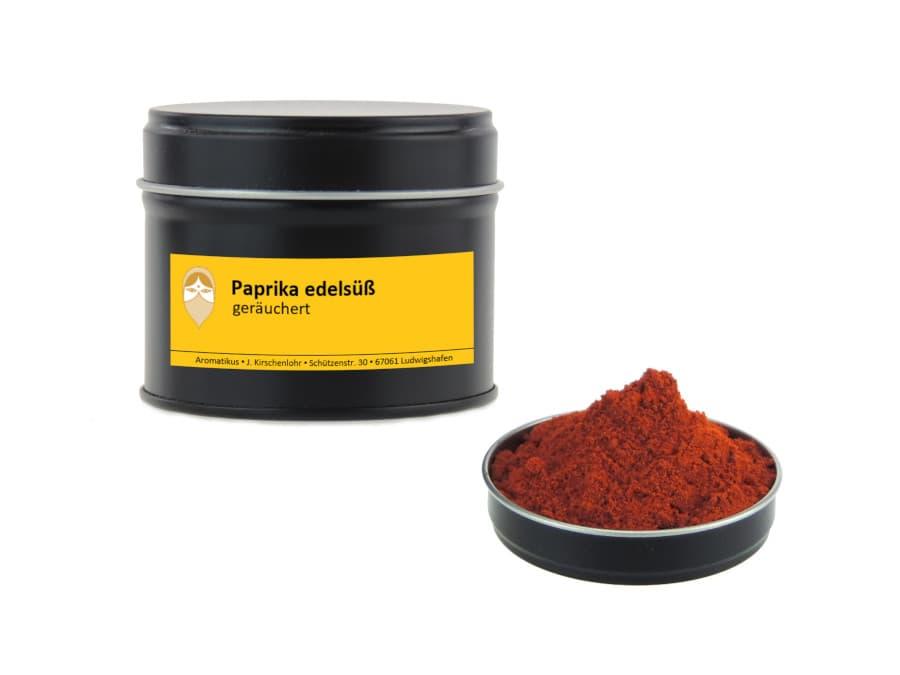 Paprika edelsüß geräuchert von Aromatikus in einer Aromaschutzdose