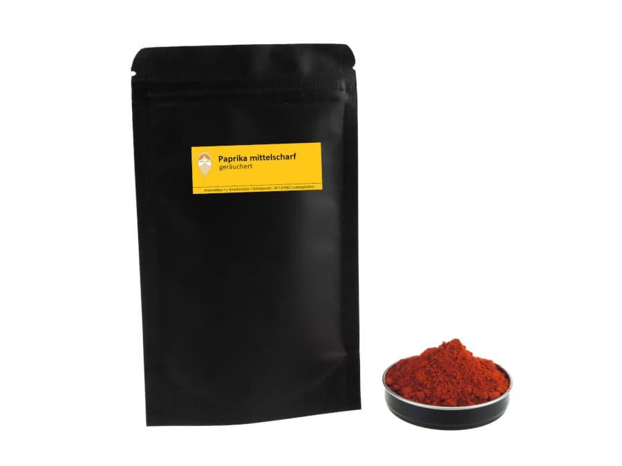 Paprika mittelscharf geräuchert von Aromatikus im verschließbaren Nachfüllpäckchen