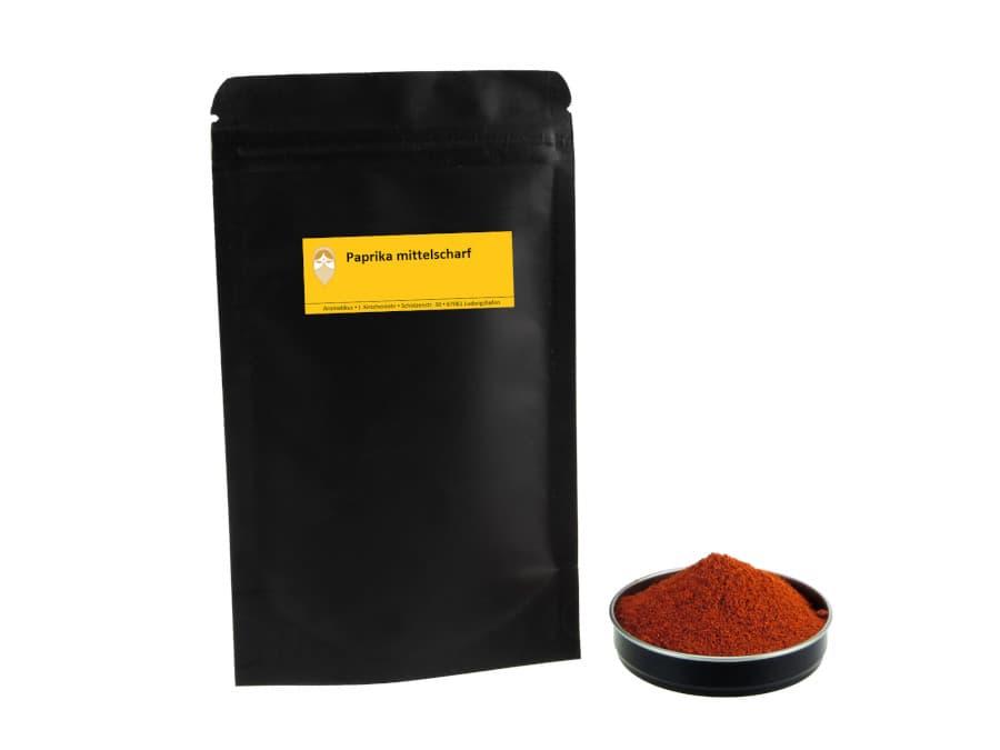 Paprika mittelscharf von Aromatikus im verschließbaren Nachfüllpäckchen