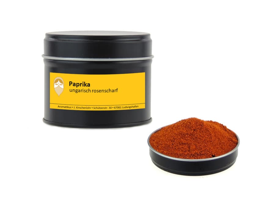 Paprika ungarisch rosenscharf von Aromatikus in einer Aromaschutzdose