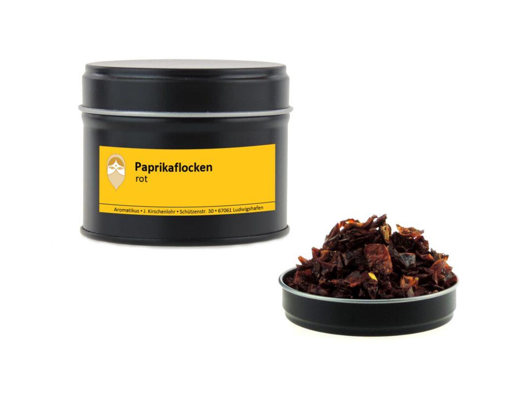 Paprikaflocken rot getrocknet von Aromatikus in einer Aromaschutzdose