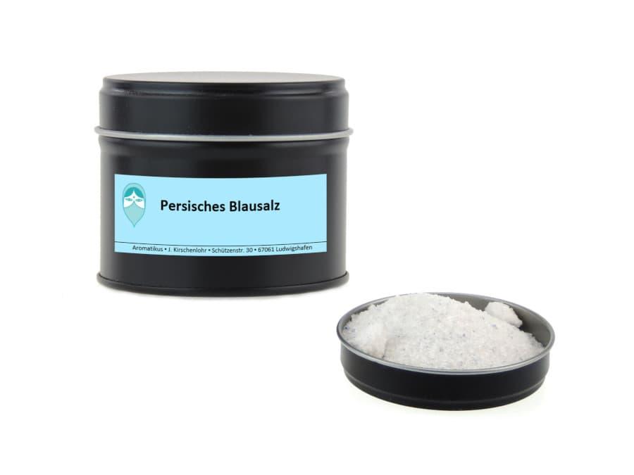 persisches Blausalz natürliche Färbung von Aromatikus in einer Aromaschutzdose