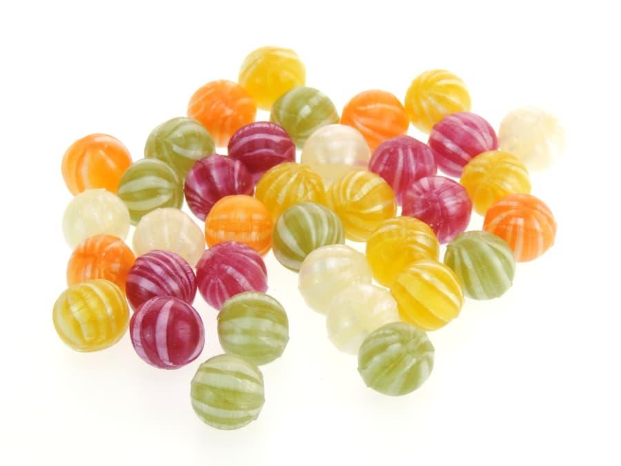 bunte Pfefferminz Bonbons in Kugelform von Aromatikus