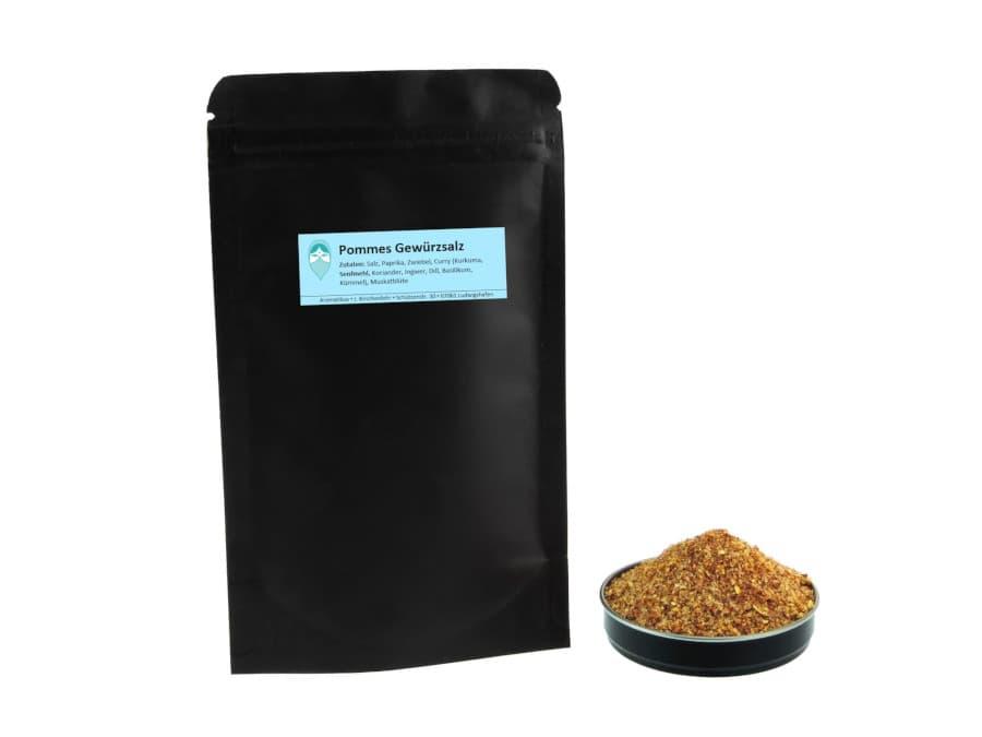 Pommeswürzsalz Mischung von Aromatikus im verschließbaren Nachfüllpäckchen
