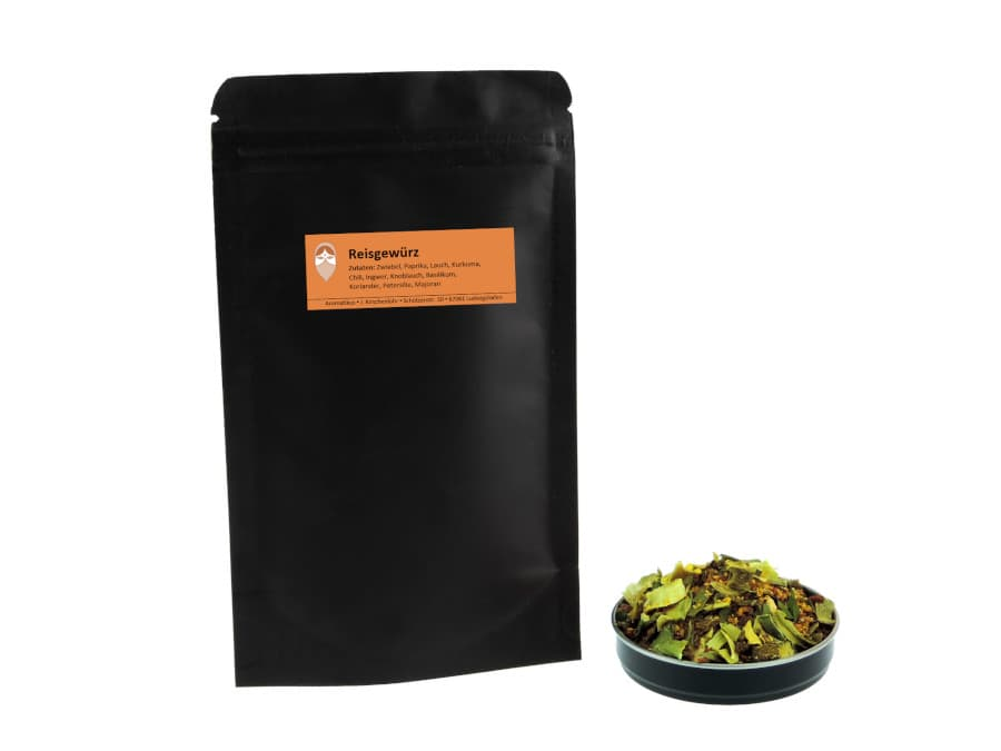 Reisgewürz Mischung von Aromatikus im verschließbaren Nachfüllpäckchen