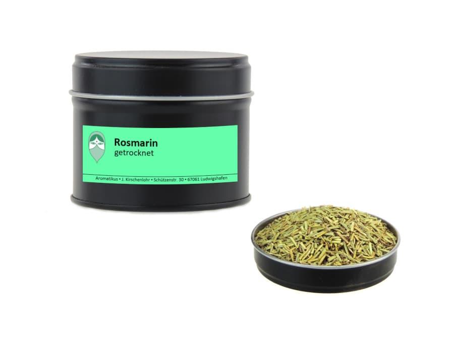 Rosmarin getrocknet von Aromatikus in einer Aromaschutzdose