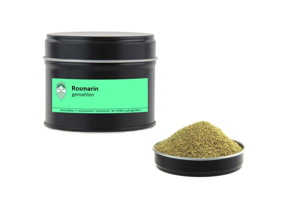 Rosmarin gemahlen von Aromatikus in einer Aromaschutzdose