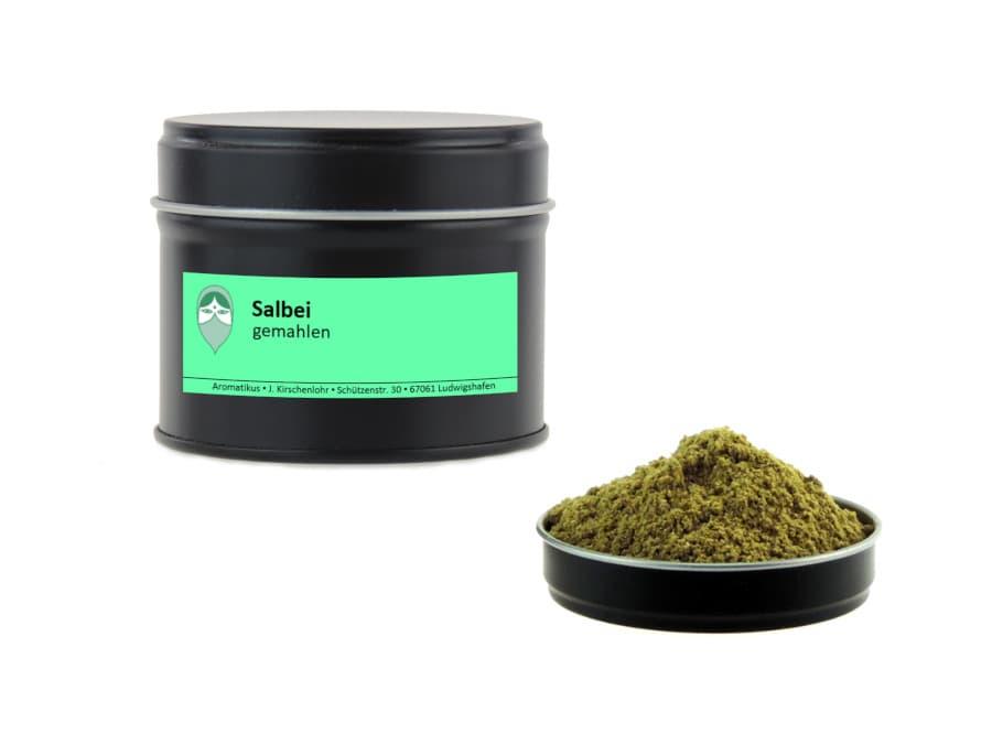 Salbei gemahlen von Aromatikus in einer Aromaschutzdose