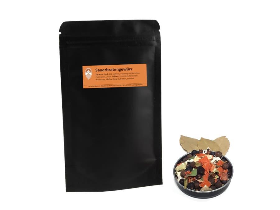Sauerbratengewürz Mischung von Aromatikus im verschließbaren Päckchen