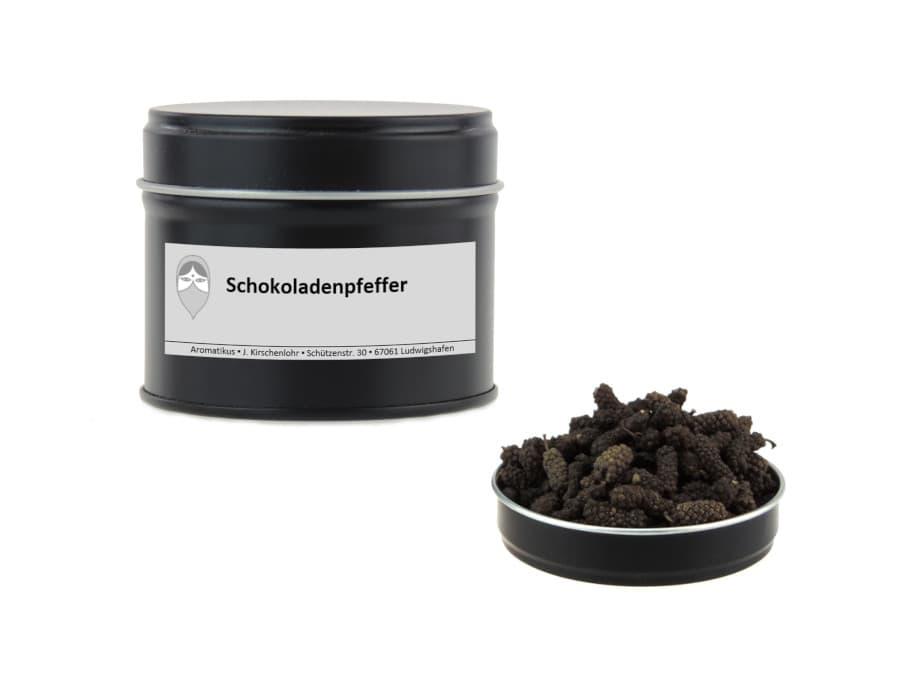 Schokoladenpfeffer alias kleiner langer Pfeffer von Aromatikus in einer Aromaschutzdose